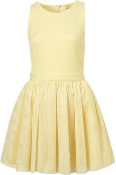 Lemon Tulle Skirt Dress By Dress Up Topshop - Lyst