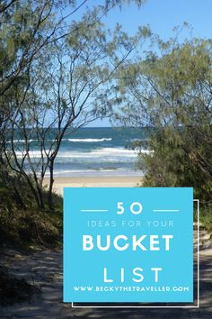 50 Awesome ideas and inspiration for your Bucket List. Experiences & Destinations.   Bucket List | Travel Inspiration | Life Goals & Dreams | Planning | Wanderlust | Solo Traveller