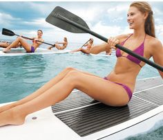 Stand-Up Paddleboard Workout: Workouts: Self.com:We took a sport that scorches 500-plus calories an hour, stand-up paddle, and then turbocharged it with on-the-water moves that sculpt every inch.