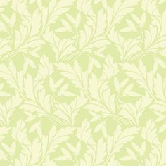 La Isla contact paper by Chic Shelf Paper. Beige leaves on a soft green background.