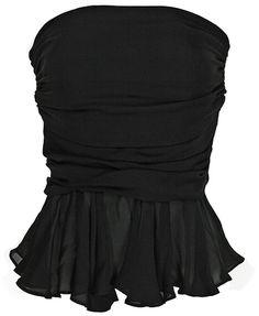 Parker Black Strapless Top in Black