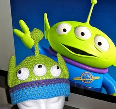 Toy Story Alien Crochet Hat Pattern PDF  warm and fun by lizzziee, $3.99