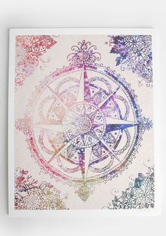 Voyager Compass Indie Rose Print. For tthe lost soul #threadsence #fashion