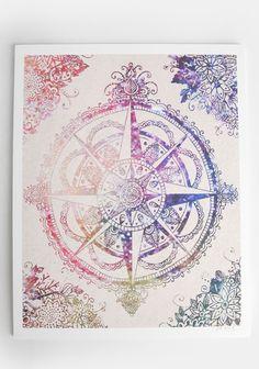 Compass as a tattoo