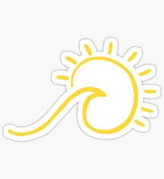 "'yellow beach wave sun shine' Sticker by ""yellow beach wave sun shine"" Stickers by Stickers Cool, Preppy Stickers, Red Bubble Stickers, Tumblr Stickers, Phone Stickers, Printable Stickers, Macbook Stickers, Cute Laptop Stickers, Papel Sticker"