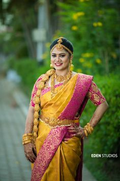 How to Select Silk Saree for Wedding? 21 Things to Know - Candy Crow Indian Wedding Couple Photography, Wedding Couple Poses, Wedding Silk Saree, Bridal Sarees, Pattu Saree Blouse Designs, Indian Bridal Fashion, South Indian Bride, Beautiful Blouses, Silk Sarees