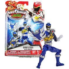 Bandai Year 2015 Saban's Power Rangers Dino Super Charge Series 5 Inch Tall Action Figure - Dino Steel BLUE RANGER aka Koda with Stego Shield