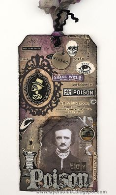 Halloween Tag | Card Making | Scrapbooking | Greeting Cards | Creative Scrapbooker Magazine  #cards #scrapbooking