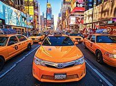 Buffalo Games Signature Taxis in Times Square  1000 Piece Jigsaw Puzzle by Buffalo Games *** For more information, visit image link.