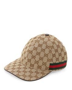 GG+Canvas+Baseball+Hat+by+Gucci+at+Neiman+Marcus.