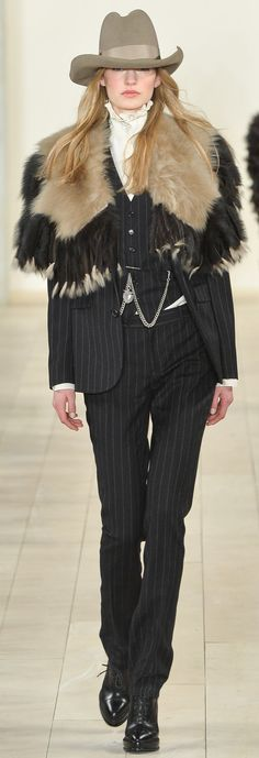 Ralph Lauren's Fall 2015 Collection pays homage to the woman who expresses individuality with bold creativity