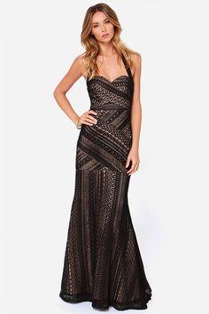 Bariano Belinda Dress - Black Dress - Maxi Dress - Lace Dress - $268.00