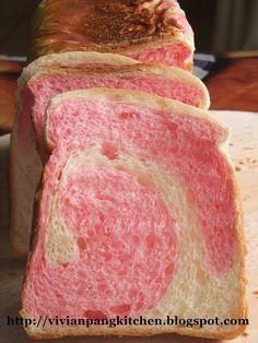 Strawberry Swirl Loaf Bread | Vivian Pang Kitchen