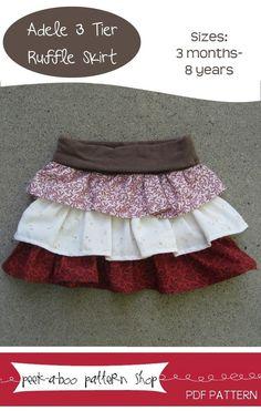 Adele 3 Tier Ruffle Skirt