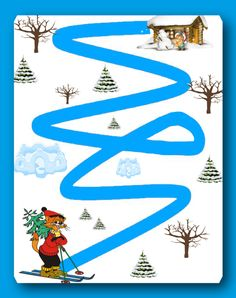 Winter Activities For Toddlers, Preschool Activities, Mazes For Kids, Pre Writing, Card Patterns, Writing Activities, Pre School, Fine Motor, Christmas Crafts