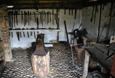 Blacksmith Workshop, Blacksmithing, See Photo, Denmark, Museum, Painting, Art, Wood Oven, Blacksmith Shop