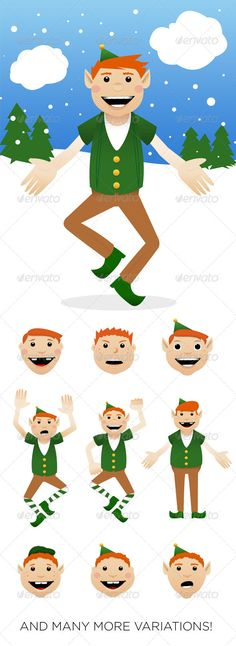 Christmas Elf Kit — Photoshop PSD #elven #vector • Available here → https://graphicriver.net/item/christmas-elf-kit/6058442?ref=pxcr