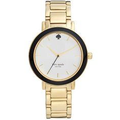 kate spade new york 'gramercy' enamel bezel bracelet watch, 36mm $225