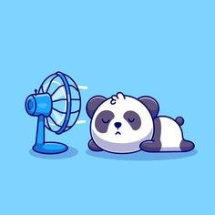 Panda Love, Cute Panda, Panda Bear, Cartoon Icons, Cartoon Styles, Cute Cartoon, Cute Little Drawings, Animal Doodles, Dog Vector