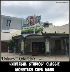 Your monster appetite will feel right at home at Universal Studios' Classic Monsters Cafe menu at Universal Orlando Resort offers food for everyone. Universal Orlando, Universal Studios Restaurants, Orlando Travel, Classic Monsters, Cafe Menu, Florida Vacation, Studio S, Places To Go, Thanksgiving