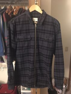 4329c0a66279 Frank   Oak Buffalo Checkered Flannel Zip Up Size US M   EU 48-50