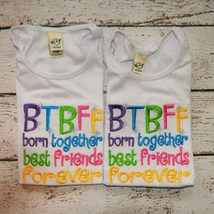 BTBFF born together best friends forever.  by OoeAndAuti on Etsy, $28.00