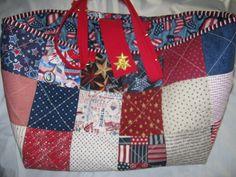 Patriotic Knitting Bag Crochet Bag Knitting by JDCreativeHands, $39.00