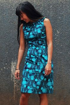African Print Dress - beautifully cut shift dress ~Latest African Fashion, African Prints, African fashion styles, African clothing, Nigerian style, Ghanaian fashion, African women dresses, African Bags, African shoes, Kitenge, Gele, Nigerian fashion, Ankara, Aso okè, Kenté, brocade. ~DK