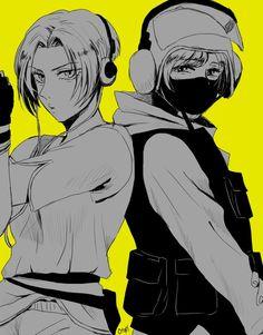 Favorite tweet by @otokisou Rainbow Six Siege Anime, Rainbow Six Siege Memes, Rainbow 6 Seige, Tom Clancy's Rainbow Six, R6 Wallpaper, Cute Girl Illustration, Avengers Fan Art, Fanart, Dark Fantasy Art