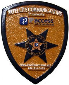 Satellite Communications Seal Plaque