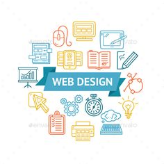 Web Design Icon Concept #app #business #computer #concept #design ...