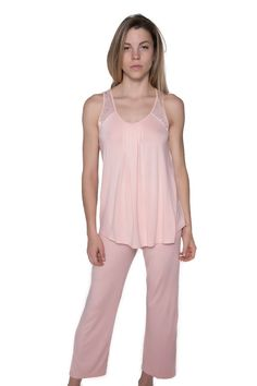 Olivia Knit and Lace Pajama #77216