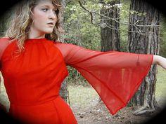 Gown Luis Estevez Red Dress from Graceful Antiques & Vintage Collectibles