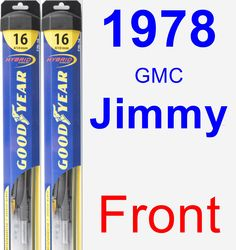 Front Wiper Blade Pack for 1978 GMC Jimmy - Hybrid