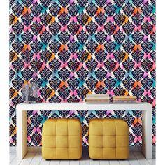 Bright Damask Pattern Peel and Stick Wallpaper (25