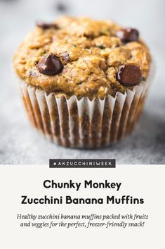 Healthy zucchini banana muffins packed with shredded zucchini, banana, heart-healthy walnuts, coconut and dark chocolate chips. These delicious muffins pack in both fruits and veggies, making them the perfect healthy snack! Freezer-friendly and a great way to use up zucchini! #muffins #healthymuffins #zucchinirecipe #bananarecipe #healthysnack #snackideas #healthybreakfast #breakfastideas #breakfastrecipe #snackrecipe Banana Zucchini Muffins, Gourmet Recipes, Snack Recipes, Dessert Recipes, Muffin Recipes, Breakfast Recipes, Breakfast Ideas, Delicious Recipes, Breakfast