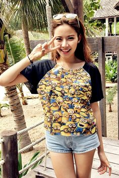 Hey, I found this really awesome Etsy listing at https://www.etsy.com/listing/169824710/despicable-me-t-shirt-crop-shirt-for