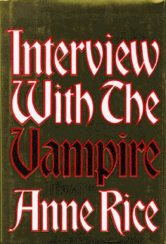 This shinny golden cover is a first edition hardcover that I have on my shelves http://en.wikipedia.org/wiki/Interview_with_the_Vampire