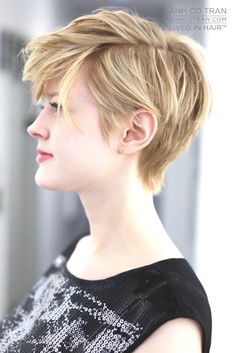 Pixie - Anh Co Tran - Children Hair Styles Layered Haircuts For Medium Hair, Medium Hair Styles, Short Hair Styles, Very Short Hair, Short Hair Cuts, Tomboy Hairstyles, Cool Hairstyles, Isabel Marant, Beautiful Bridal Makeup