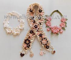 Silvia Gramani Crochê: Colares e Cordão com Flores em Crochê