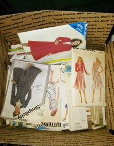 Womens Sewing Patterns 70s 80s Butterick Vogue McCalls Simplicity lot 121 #1 #assorted #assorted