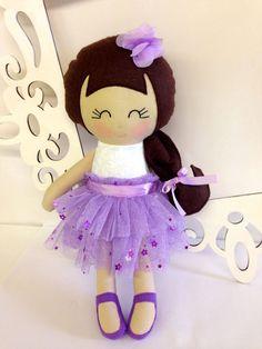 Cloth Doll Fabric Dolls Soft Doll Handmade Doll by SewManyPretties, $50.00 #birthdaygirl