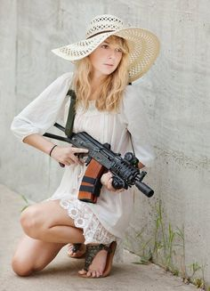 Fashion meets Firepower...little miss muffett sat on her tuffet and blew the hell out that stupid spider