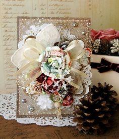 Beautiful Card. Love it!  12 Days of Christmas Ideas | 12 Days of Christmas Card by Maiko Kosugi for Prima ... | Craft Ideas