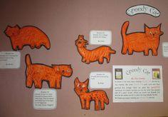 """greedy cat"" display Reading Recovery, Cat Activity, Author Studies, Kindergarten Art, Very Hungry Caterpillar, Book Week, Writing Activities, New Words, Cat Art"