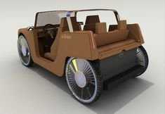 """The """"carDboard"""" concept vehicle is a militantly minimal coupe with no door, no dashboard and no hard roof. The chassis & body are composed of entirely of recycled cardboard & plastic, making it extremely lightweight & efficient with its small tri-hybrid gas/compressed-air/electric engine. Designer: Thierry Dumaine 
