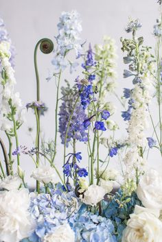 Fresh & Modern 'Something Blue' Wedding Inspiration Shoot - Bridal Musings