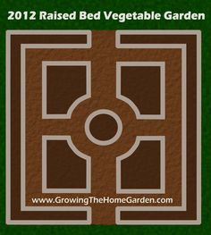 Growing The Home Garden: Gardening in the Home Landscape: Vegetable Garden Layout for 2012
