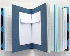 Things - Blue Mixed Paper Journal - 4.5 x 6 inch A6 - Notebook