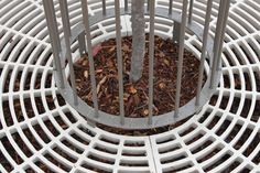 Fabricated from a heavy duty steel, these tree grates allow for easy watering access while restricting slip hazards.  #KiwiTreeGrate #UrbanEffects #StreetFurniture #OutdoorFurniture #TreeProtectors #TreeGrates #TreeGuards